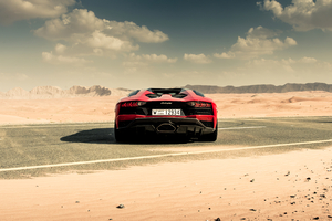 Lamborghini Aventador S Roadster 2020 Rear View Wallpaper