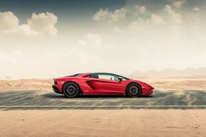 Lamborghini Aventador S Roadster 2020 Side View 4k Wallpaper