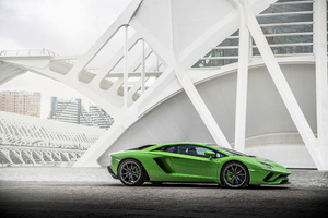 Lamborghini Aventador S Side View 2018