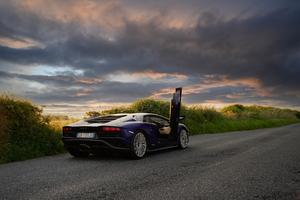 Lamborghini Aventador S Window Open 5k Wallpaper