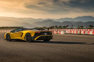 Lamborghini Aventador SV Rear 5k