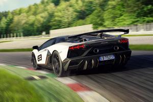 Lamborghini Aventador SVJ 63 2018 Rear View 4k