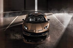 Lamborghini Aventador SVJ Roadster 2019 Front Wallpaper