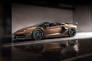 Lamborghini Aventador SVJ Roadster 2019 Side View Wallpaper