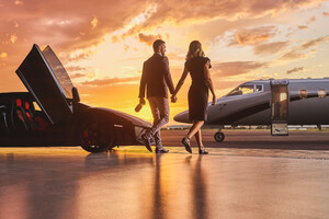 Lamborghini Business Private Jet Married Couple