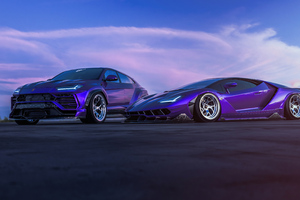 Lamborghini Centenario And Urus 4k Wallpaper