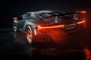 Lamborghini Centenario Car Rear