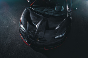 Lamborghini Centenario Coupe Front Black Carbon