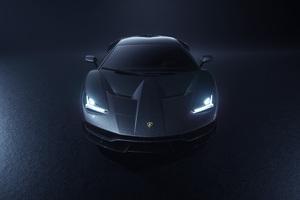Lamborghini Centenario Grey Front 5k Wallpaper