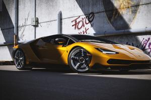 Lamborghini Centenario Yellow Cgi 4k Wallpaper