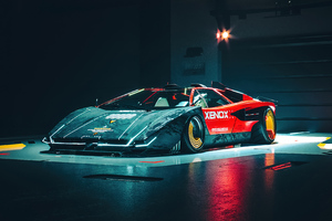 Lamborghini Countach Customs Front View 4k