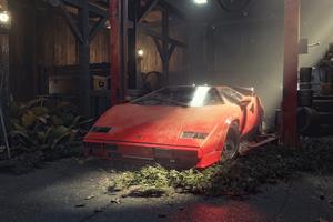 Lamborghini Countach Eating Dust Wallpaper