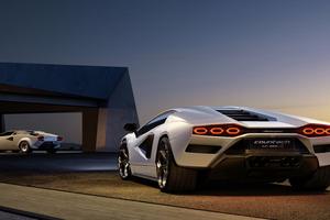 Lamborghini Countach Lpi 800 Rear View 5k Wallpaper