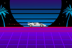 Lamborghini Countach Retro Wallpaper