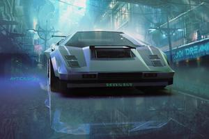 Lamborghini Countach Retro Ride 5k Wallpaper