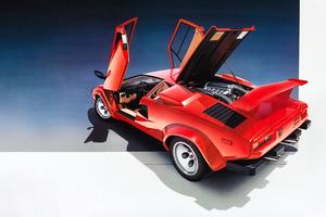 Lamborghini Countach Vintage Car 4k