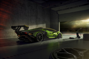 Lamborghini Essenza SCV12 Rear 8k Wallpaper