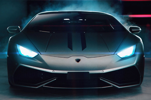 Lamborghini Glowing Lights 4k Wallpaper