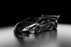 Lamborghini Huracan Black Wallpaper