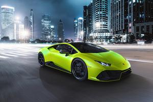 Lamborghini Huracan Evo Fluo Capsule Wallpaper