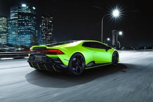 Lamborghini Huracan EVO Fluo Capsule Rear 4k Wallpaper