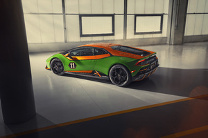 Lamborghini Huracan Evo GT 2020 Rear View Wallpaper
