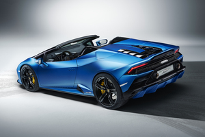Lamborghini Huracan Evo Spyder 2020 Upper View Wallpaper