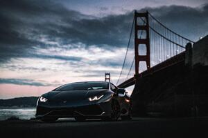 Lamborghini Huracan Golden Gate Bridge