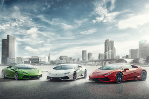 Lamborghini Huracan Miami Wallpaper