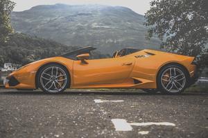 Lamborghini Huracan On The Road