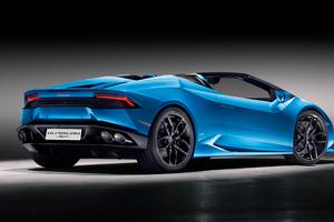 Lamborghini Huracan Spyder Convertible Rear