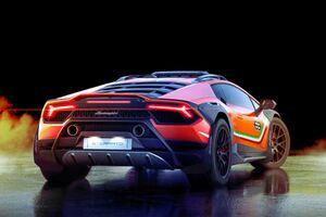 Lamborghini Huracan Sterrato Concept 2019 Rear Wallpaper