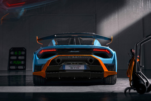 Lamborghini Huracan STO Edition Rear Look 5k Wallpaper