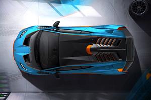 Lamborghini Huracan Sto Top View 8k
