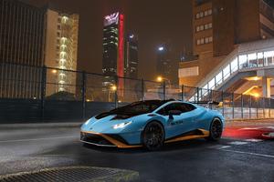 Lamborghini Light Blue Metallic Coupe 5k Wallpaper
