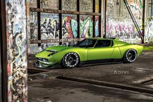 Lamborghini Miura Widebody 4k Wallpaper