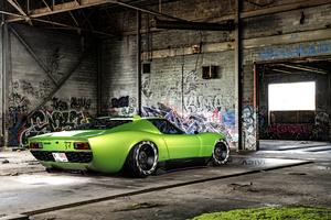 Lamborghini Miura Widebody Wallpaper