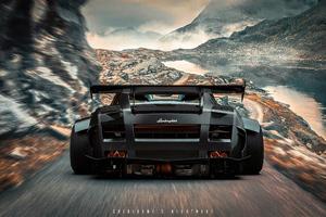 Lamborghini Rear Wallpaper