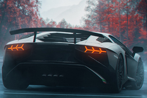 Lamborghini Rear New Wallpaper