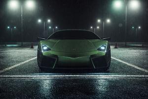 Lamborghini Reventon Rain 5k Wallpaper