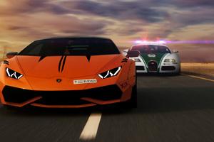 Lamborghini Robber And Bugatti Cop