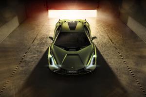 Lamborghini Sian 2019 Front Wallpaper