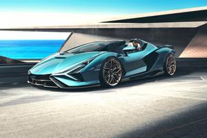 Lamborghini Sian Roadster 2020 Front