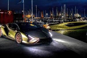 Lamborghini Sian Tecnomar 8k Wallpaper