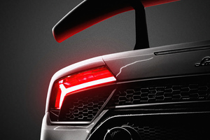Lamborghini Tail Light Glowing 5k Wallpaper