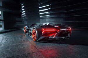 Lamborghini Terzo Millennio 2019 Rear View Car
