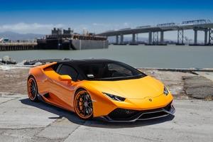 Lamborghini VAG Performante Huracan Orange Wallpaper