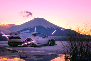 Lamborghini White Mountains 4k