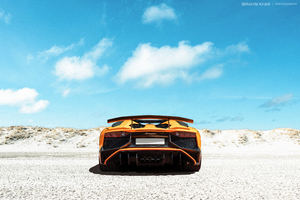 Lamborghini Yellow Rear Wallpaper