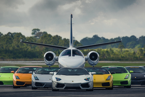 Lamborghinis With Jet